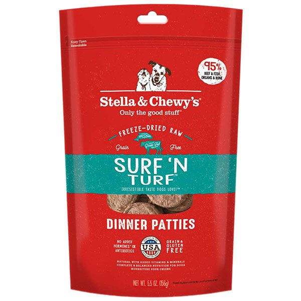 Stella & Chewy's - Freeze Dried Dinner Patties-牛肉 三文魚 狗配方